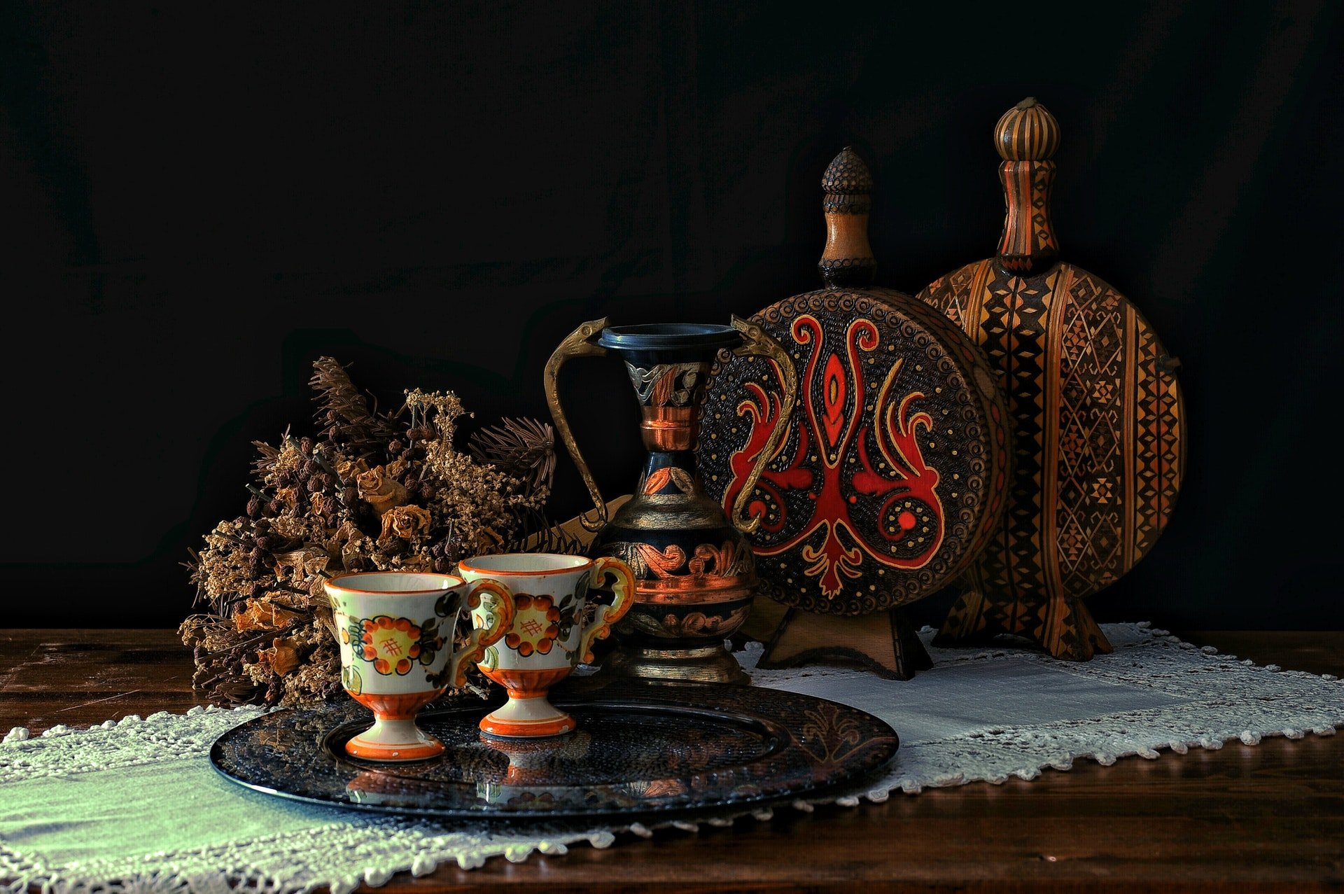 Ancient tea set