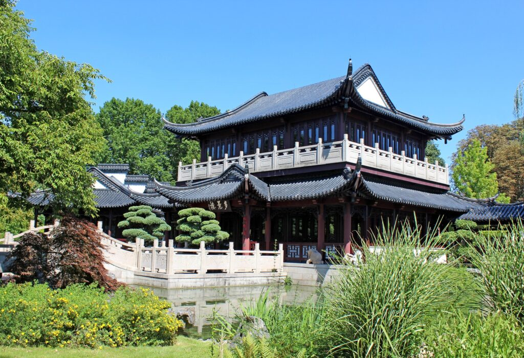 Traditional chinese tea house