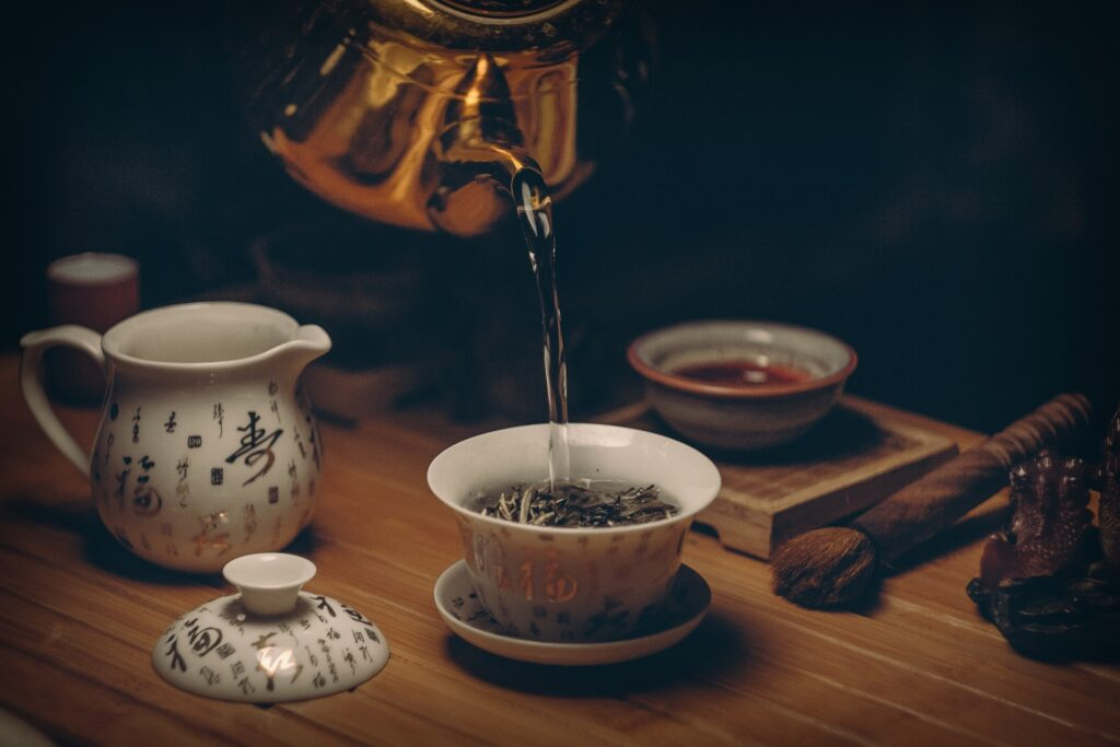 Chinese tea serving