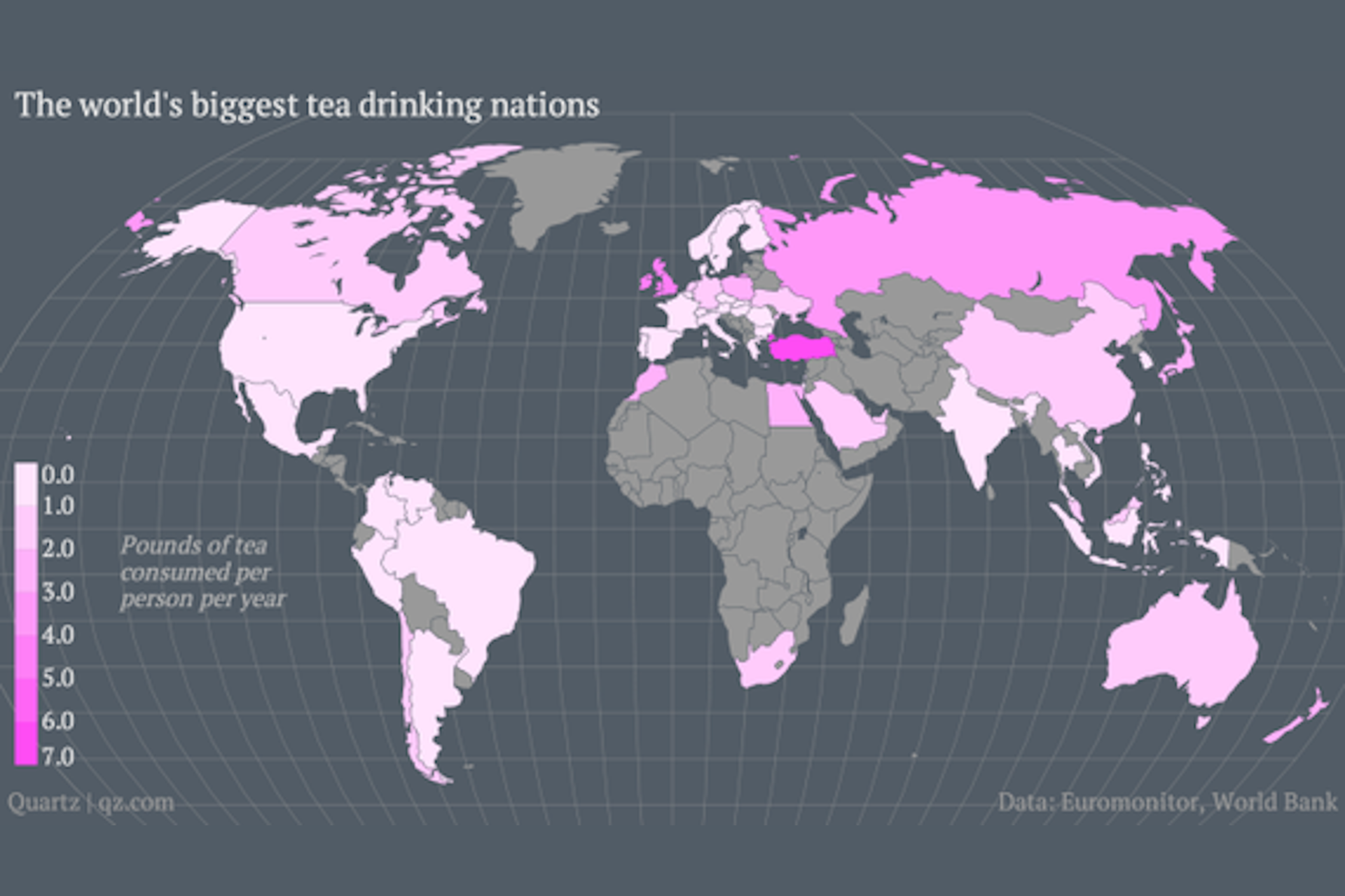Countries that drink the most tea