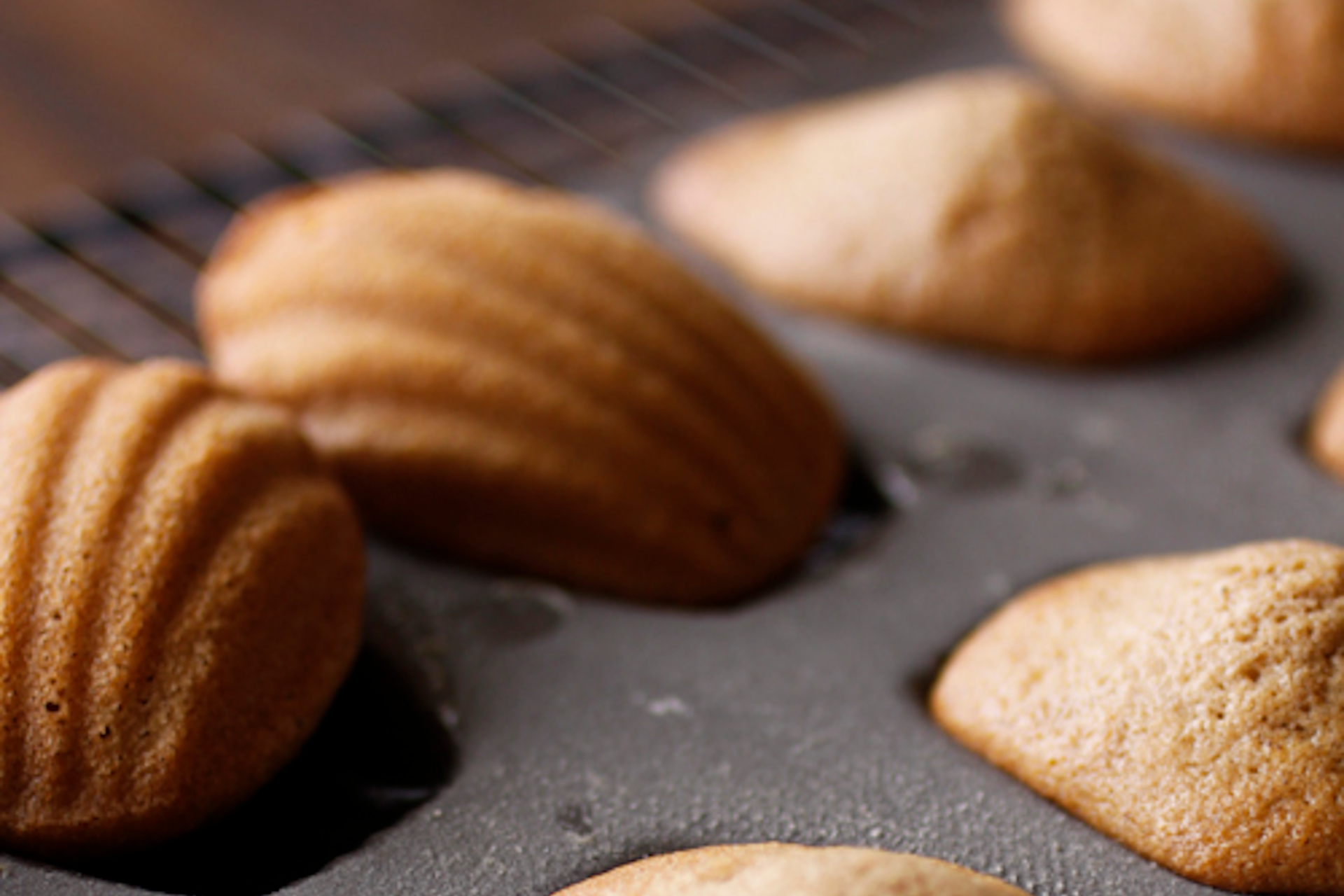 Masala chai madeleines with brown sugar and honey