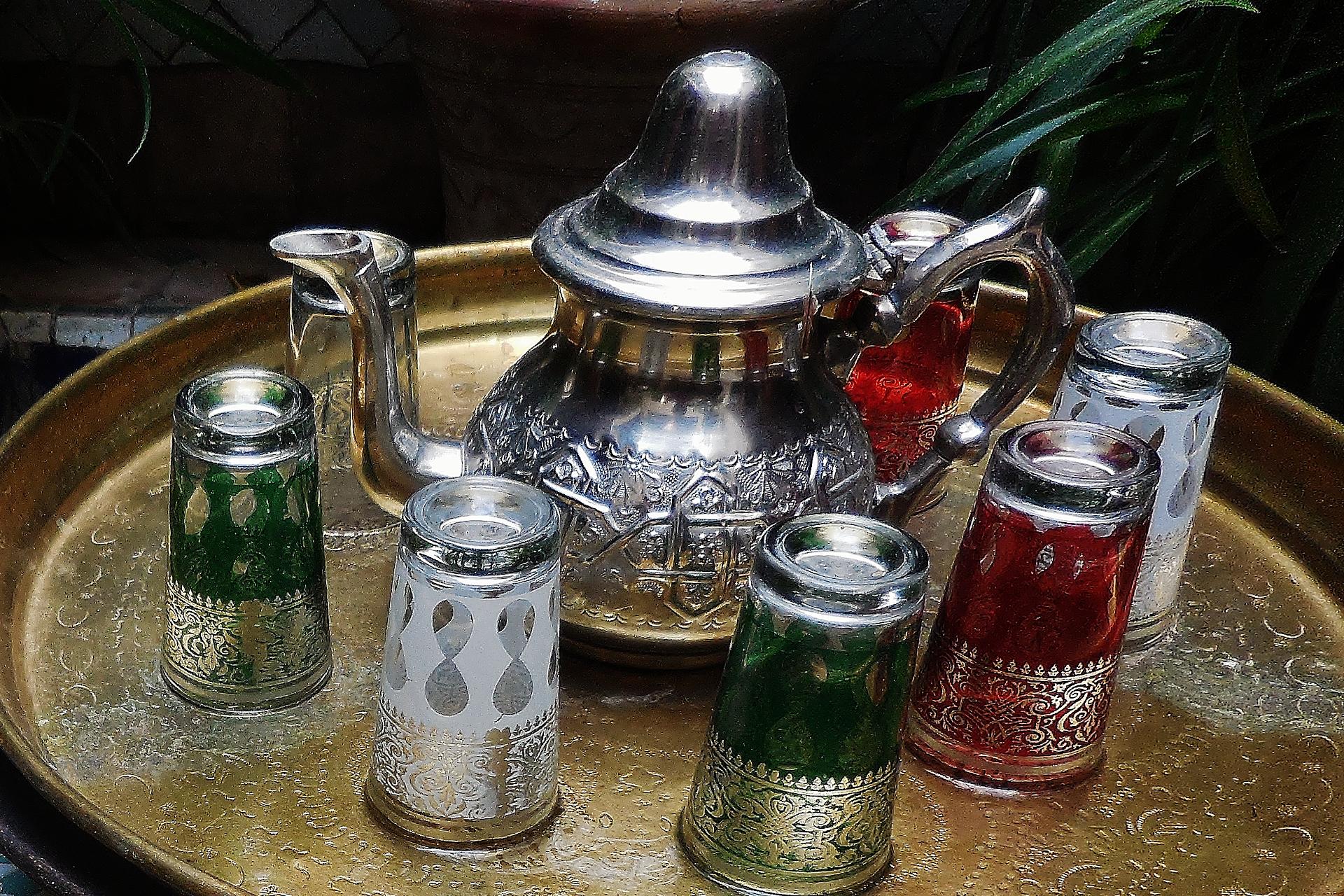 serving of morroccan tea