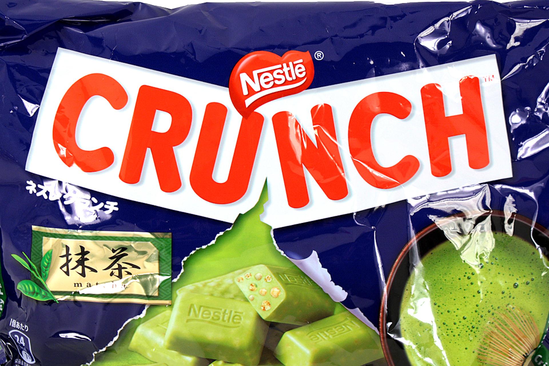 Nestle crunch green tea