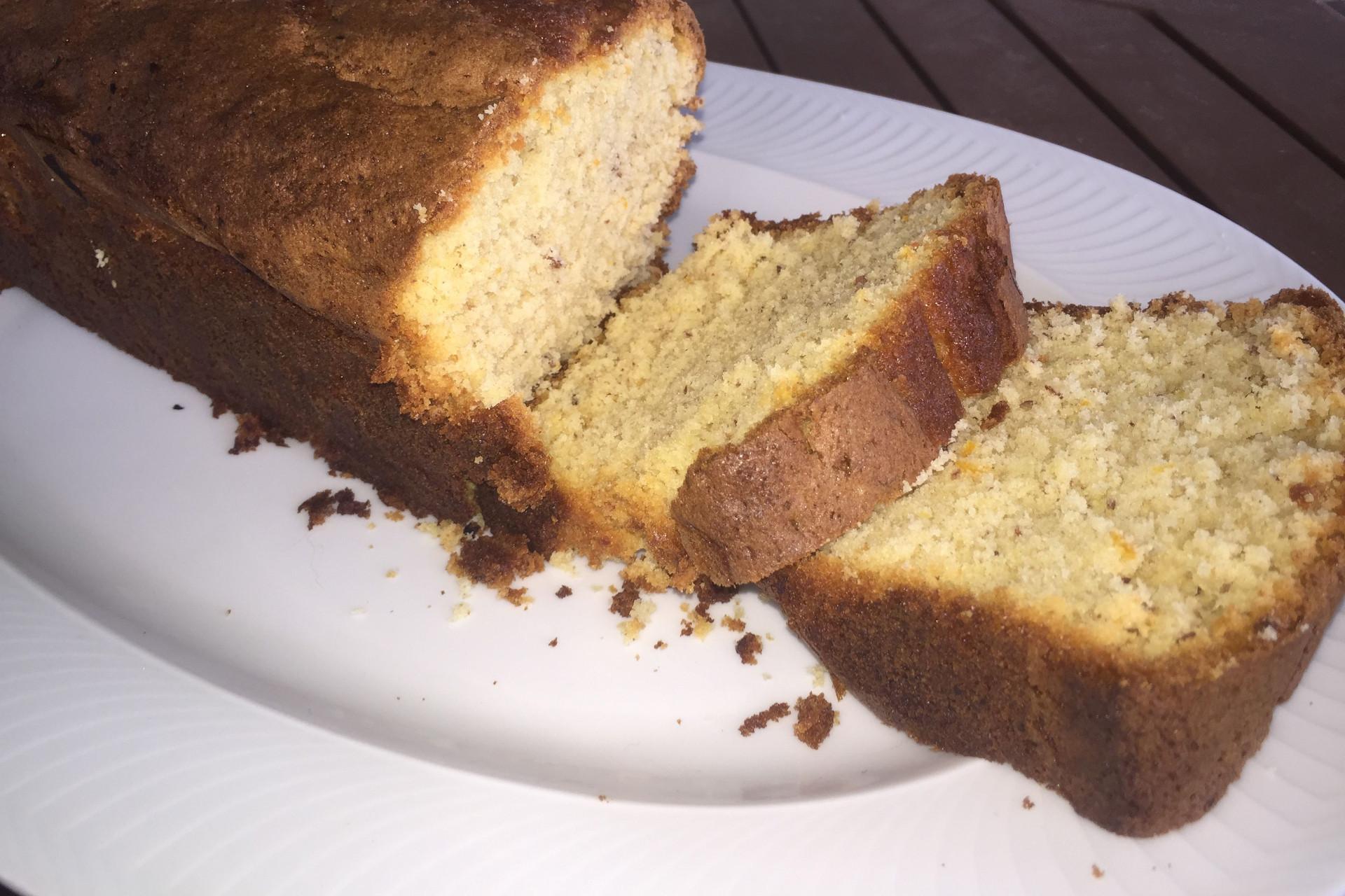 orange tea infused cake