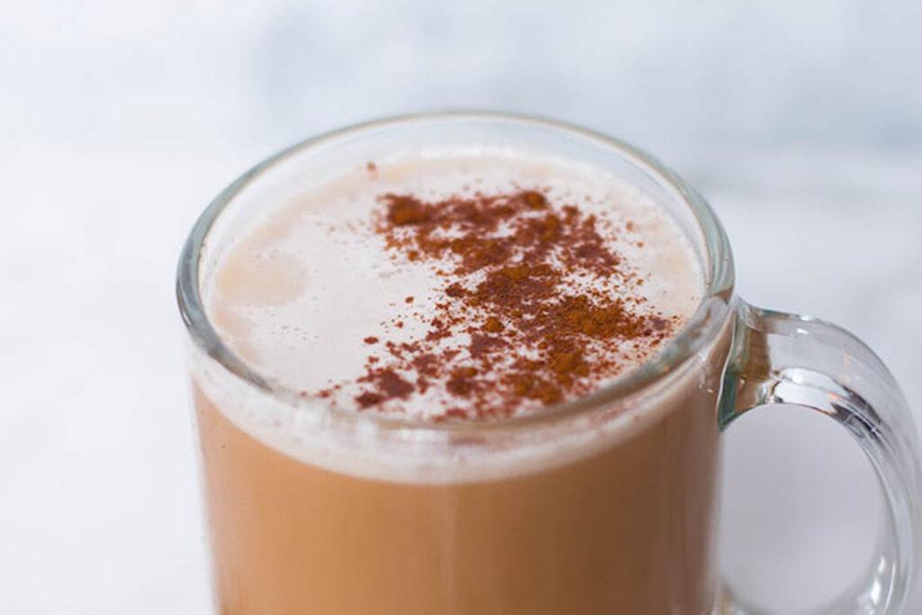 Peppermint chai tea latte