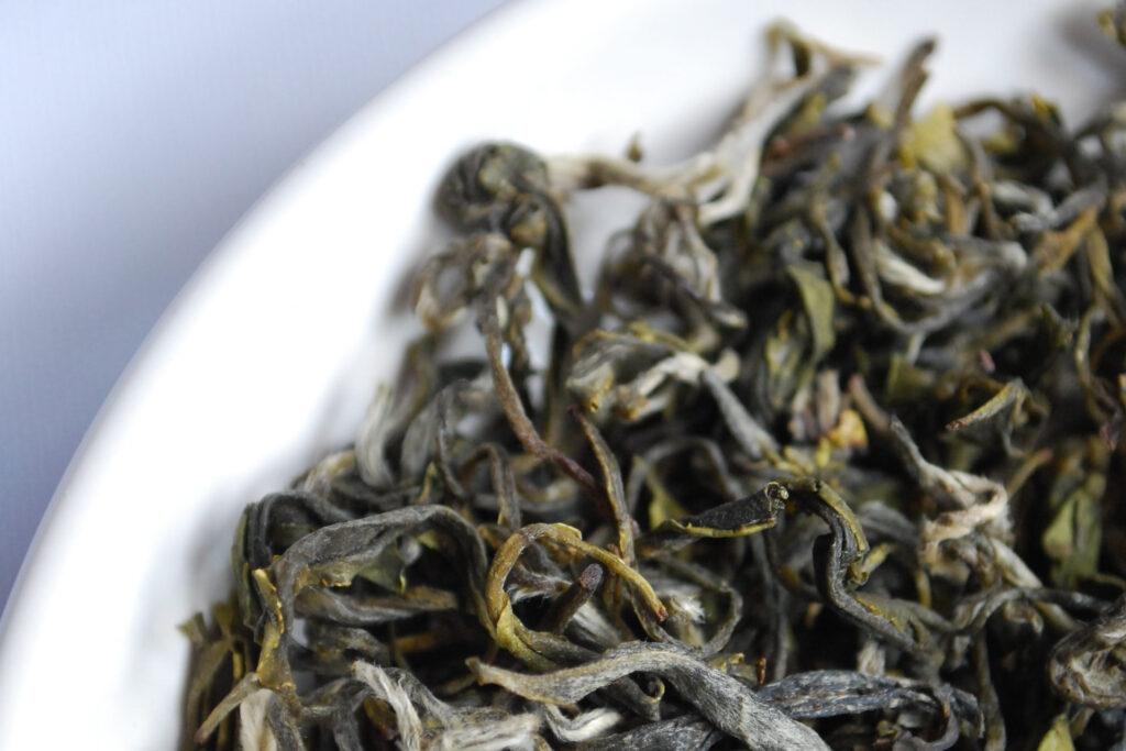 Tea leaves up close