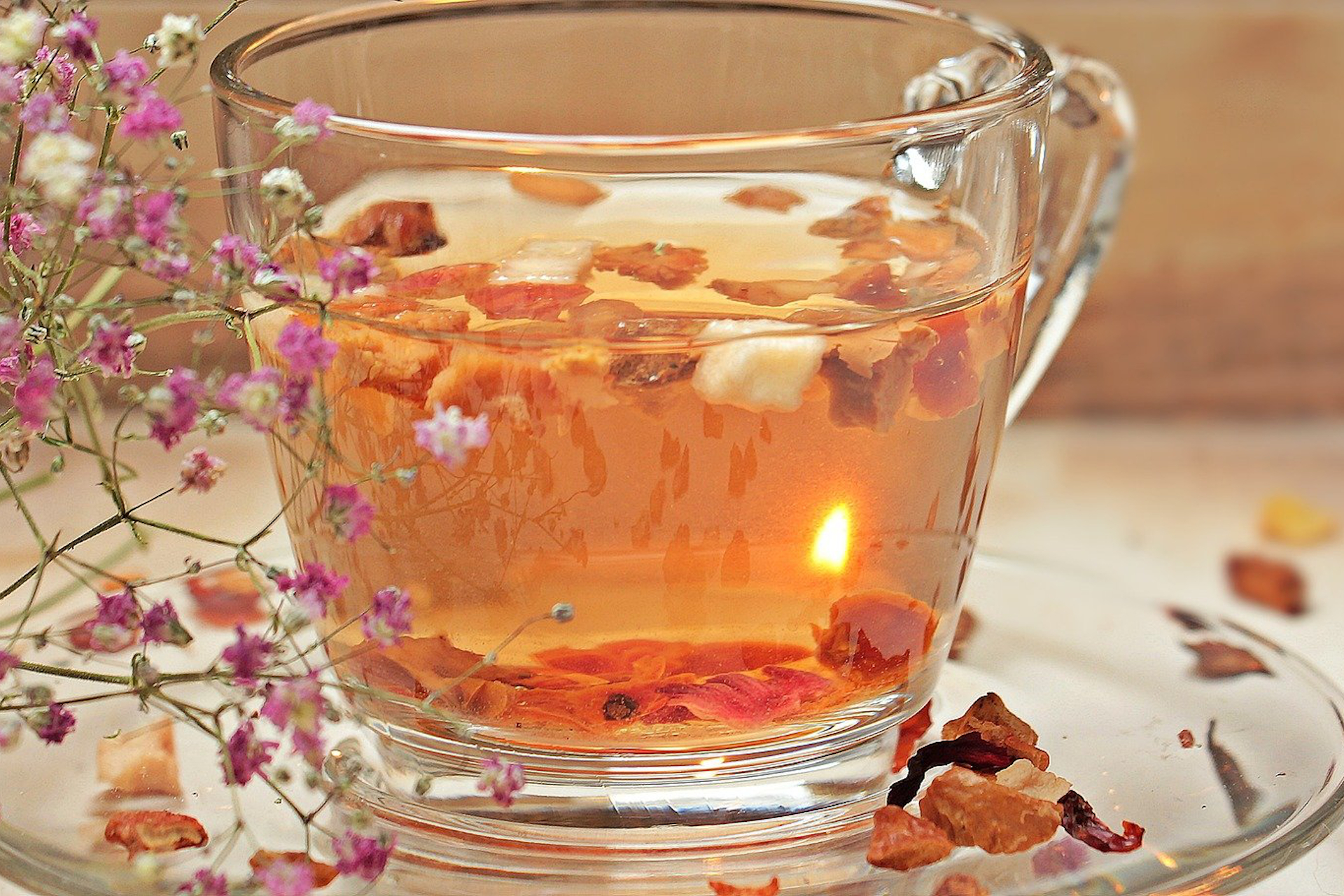 Tea mood with light
